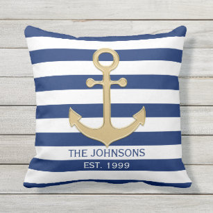 Gold And Navy Cushions Decorative Throw Cushions Zazzle Uk