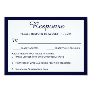 "Nautical Navy Blue Sailboat Wedding RSVP Cards 3.5"" X 5"" Invitation Card"