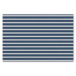 "Nautical Navy Stripes 10"" X 15"" Tissue Paper"