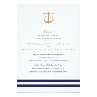 Nautical Navy Wedding Invitation