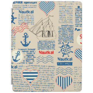 Nautical Newspaper Pattern iPad Cover