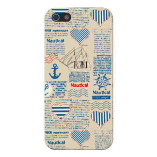 Nautical Newspaper Pattern iPhone 5/5S Cases