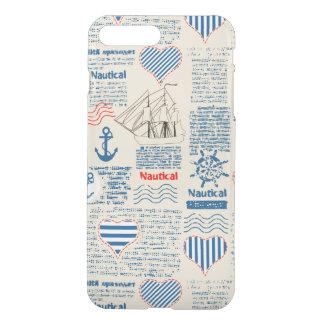 Nautical Newspaper Pattern iPhone 8 Plus/7 Plus Case