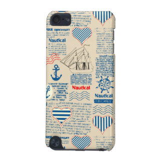 Nautical Newspaper Pattern iPod Touch 5G Cases