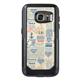 Nautical Newspaper Pattern OtterBox Samsung Galaxy S7 Case