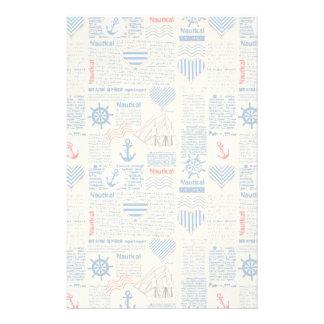 Nautical Newspaper Pattern Stationery