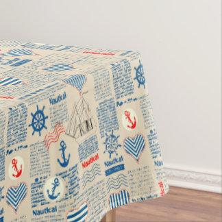 Nautical Newspaper Pattern Tablecloth