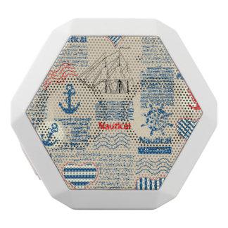 Nautical Newspaper Pattern White Bluetooth Speaker