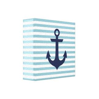 Nautical nursery anchor canvas