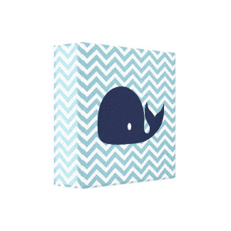 Nautical nursery whale canvas
