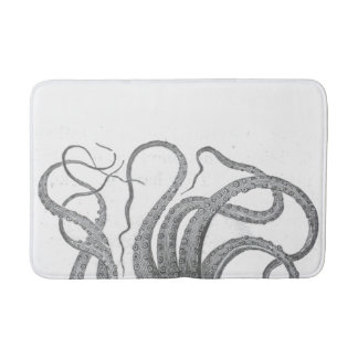 Nautical octopus tentacles vintage kraken steampun bath mat