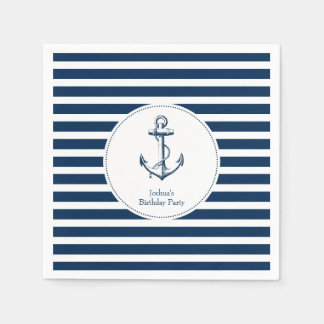 Nautical Party Napkins Disposable Serviettes