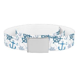 Nautical pattern belt