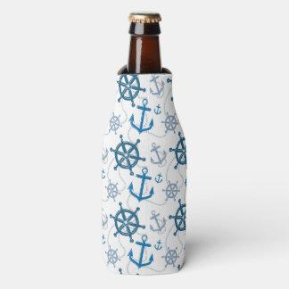 Nautical pattern bottle cooler