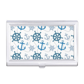 Nautical pattern business card holder