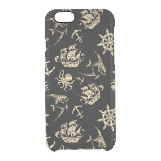 Nautical pattern clear iPhone 6/6S case