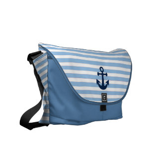 nautical pattern courier bag