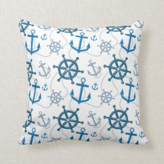 Nautical pattern cushion
