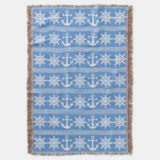 Nautical pattern custom color throw blanket