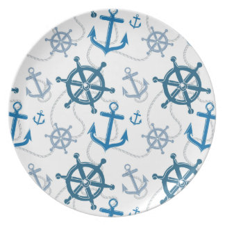 Nautical pattern dinner plates