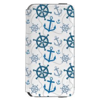 Nautical pattern incipio watson™ iPhone 6 wallet case
