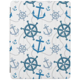 Nautical pattern iPad cover
