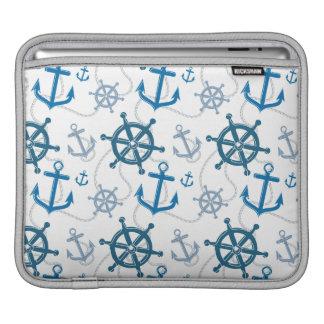 Nautical pattern iPad sleeve