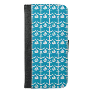 Nautical pattern iPhone 6/6s plus wallet case
