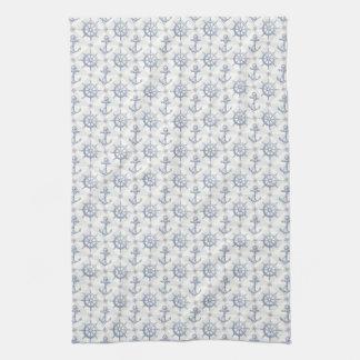 Nautical Pattern Kitchen Towel