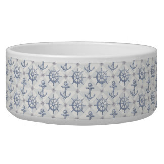 Nautical Pattern Large Pet Bowl