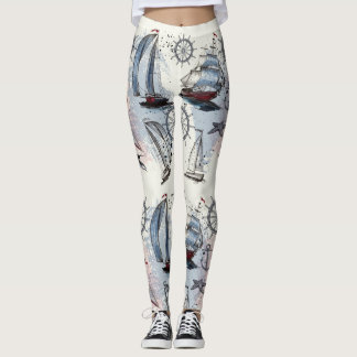 Nautical Pattern Leggings