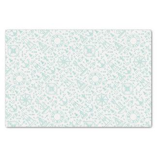 Nautical pattern light green tissue paper