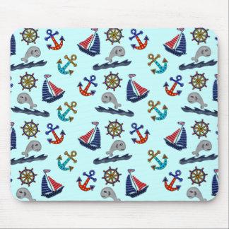 Nautical Pattern Mouse Pads
