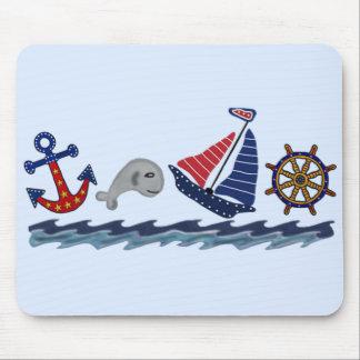 Nautical Pattern Mouse Pad