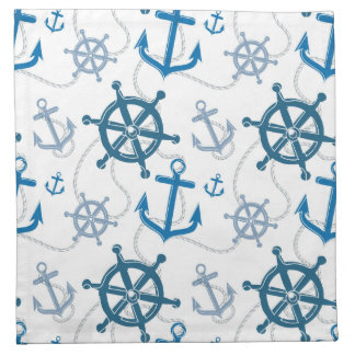 Nautical pattern napkin