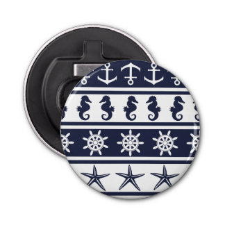 Nautical pattern on custom background color