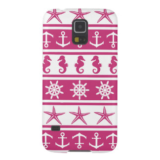 Nautical pattern on custom background color galaxy s5 case