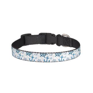Nautical pattern pet collar