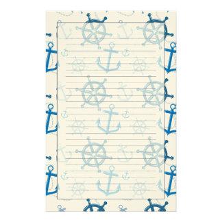 Nautical pattern stationery