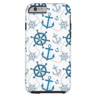 Nautical pattern tough iPhone 6 case
