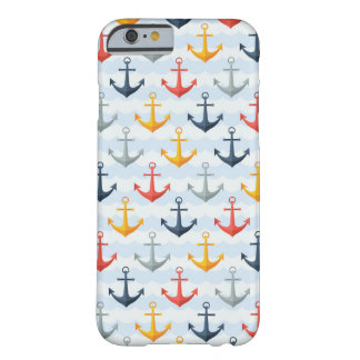 Nautical Pattern with Anchors Barely There iPhone 6 Case