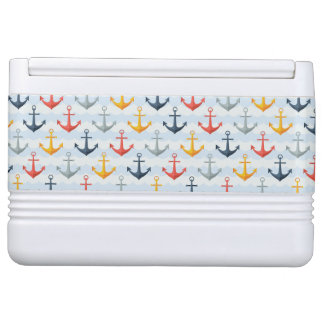 Nautical Pattern with Anchors Igloo Cool Box
