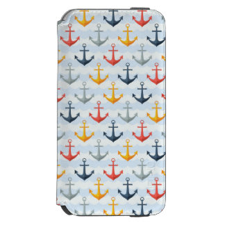 Nautical Pattern with Anchors Incipio Watson™ iPhone 6 Wallet Case