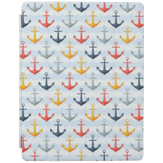 Nautical Pattern with Anchors iPad Cover