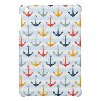 Nautical Pattern with Anchors iPad Mini Cases