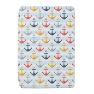 Nautical Pattern with Anchors iPad Mini Cover