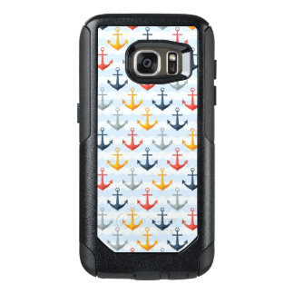 Nautical Pattern with Anchors OtterBox Samsung Galaxy S7 Case