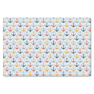 Nautical Pattern with Anchors Tissue Paper