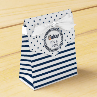 Nautical Penguin Boy's Baby Shower Wedding Favour Box
