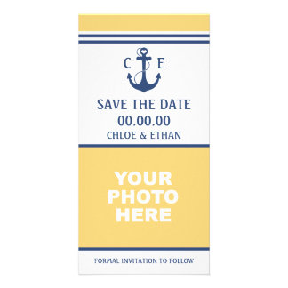 Nautical Photo Save the Date Personalized Photo Card